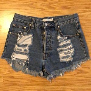 Mink Pink Thrasher Jean Shorts